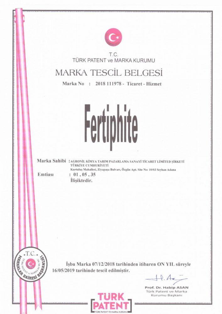 Fertiphite Marka Tescili