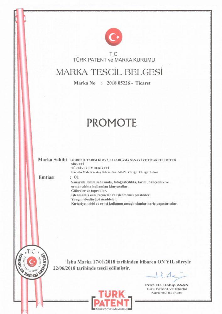 Promote Marka Tescili